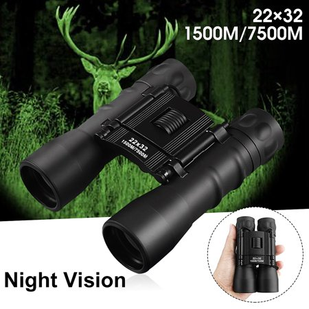 Binoculars, ARCHEER 22x32 7500M Night Vision Binoculars Telescope, Zoomable Folding Compact Binoculars for Day and Night Bird Watching Hunting Travelling