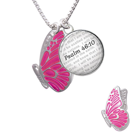 AS/_ Hot Bible Verse Necklace Be Still and Know That I am God Pendant Psalm 46:10