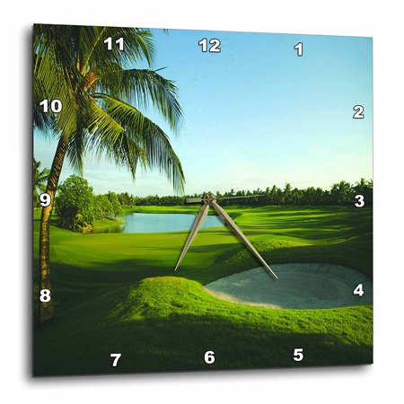 - 3dRose Golf Course On Thailand, Wall Clock, 15 by 15-inch
