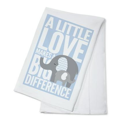 Elephant - Infant Sentiment - Blue - Lantern Press Artwork (100% Cotton Kitchen Towel) ()