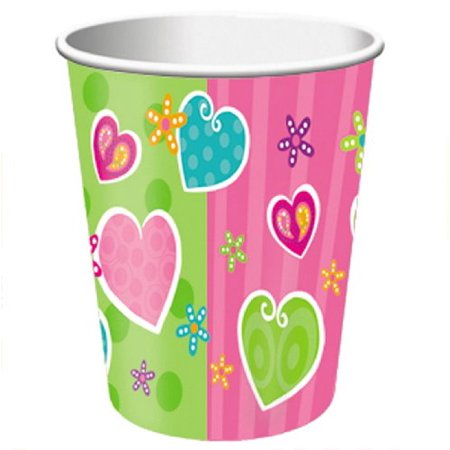 Heart Whimsy 9 Ounce Party Cups 8 Count 9 Ounce Bags Pack