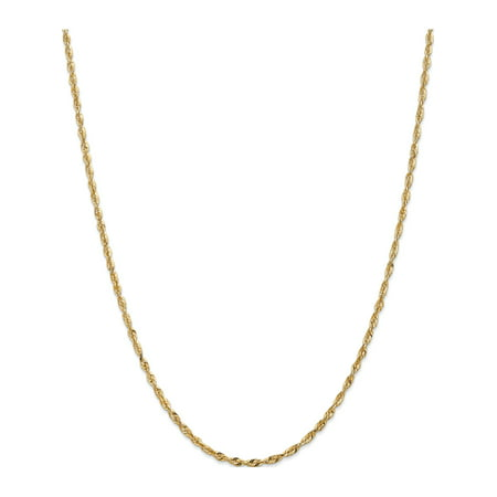 14k Yellow Gold 2.5mm D/C Extra-Light Rope Chain - image 5 of 5