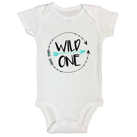 "Baby Girl 1st Bday Themes (Boys or Girls 1st Birthday Onesie- 1 Year Old Bday Shirt ""Wild One"" Funny Threadz Kids Toddler T2 T-shirt,)"