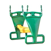 Creative Playthings AA911-342 Kids Swing Set Back-To-Back Glider w/ Chain, Green