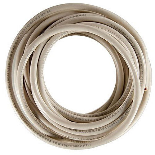 JT&T Products 3189F 18 AWG White 1015 Motor Wire, 18' Cut