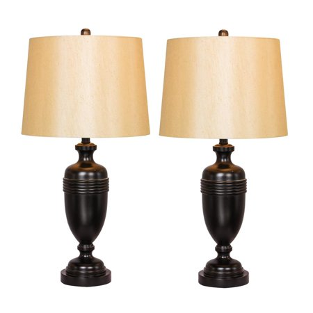 Two Luxury Lamps Without The Luxury Cost! Fangio Lighting's 1590BZ Pair of 29.25 in. Bronze Metal Decorative Urn Table Lamps ()