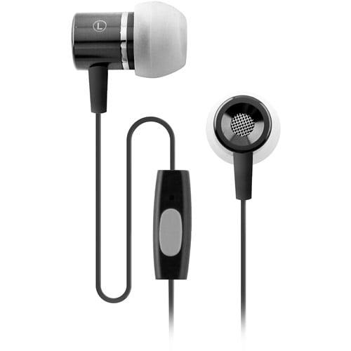 Coby Electronics CVEM89BLK Black Jammerz Talk Stereo Earphones With Microphone