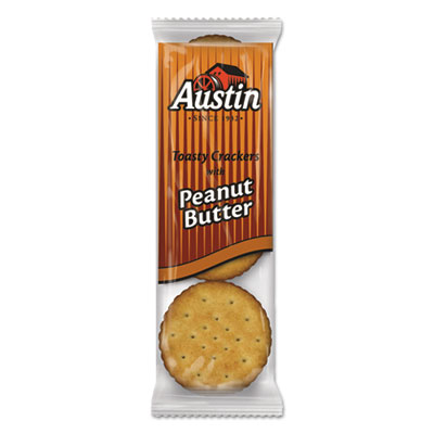 Toasty Crackers w/Peanut Butter, 8-Piece Snack Pack, 45 Packs/Box, Sold as 1 Carton, 45 Each per Carton