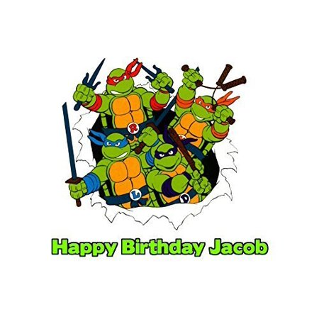 1/4 Sheet Teenage Mutant Ninja Turtles TMNT 90s Edible Frosting Cake Topper- 77045*