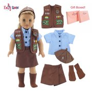 "My Life As 18 Inch Doll Clothes for American Girl Dolls | 5 Piece 18"" Doll Brownie Girl Scout Inspired Uniform 