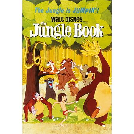 The Jungle Book   Classic Walt Disney Movie Poster   Print  1967 Regular Style   Size  24   X 36
