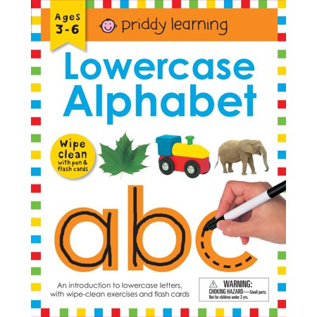 Wipe Clean Workbook: Lowercase Alphabet (enclosed spiral binding) : Ages 3-6; with pen & flash cards ()