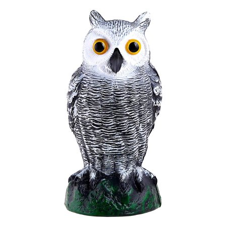 Ohuhu Scarecrow Fake Horned Owl Decoy, Natural Enemy Pest Deterrent Scarecrow, Pest Control Repellents Garden Protector, Small Size
