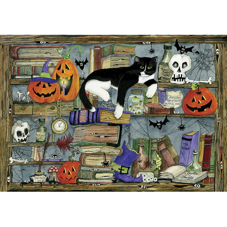 Halloween Games Cat Bowling (Vermont Christmas Company Halloween House Cat - 100 Piece Jigsaw)