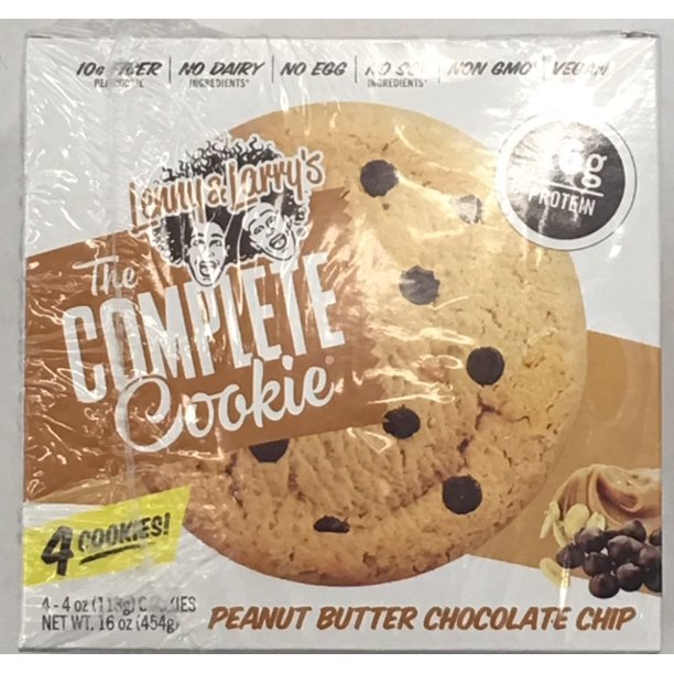 Lenny Larry S Peanut Butter Chocolate Chip The Complete Cookie 4 Oz 4 Count Walmart Com Walmart Com