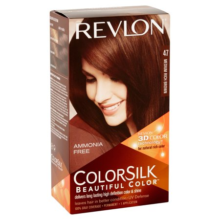 Revlon ColorSilk Beautiful Color 47 Medium Rich Brown Permanent ...