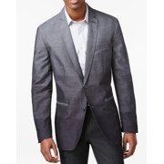 INC NEW Charcoal Gray Mens Size Large L Two Button Striped Blazer