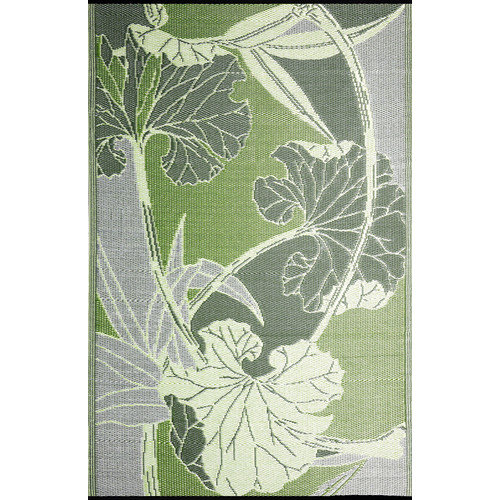 b.b.begonia Blossom Reversible Design Green & Gray Outdoor Area Rug