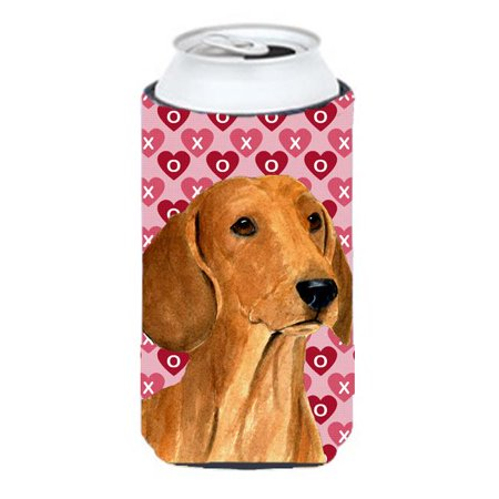 Dachshund Hearts Love And Valentines Day Portrait Tall Boy bottle sleeve Hugger - 22 To 24 oz. - image 1 de 1