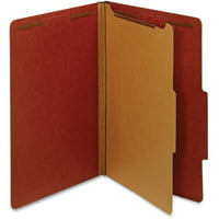 Pendaflex, PFX28775R, 1-Divider Pressboard Classification Folders, 10 / Box, Red
