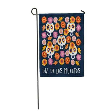 LADDKE Dia De Los Muertos Halloween Mexican Calavera Catrina Skulls Garden Flag Decorative Flag House Banner 12x18 inch](Makeup Halloween Calaveras)