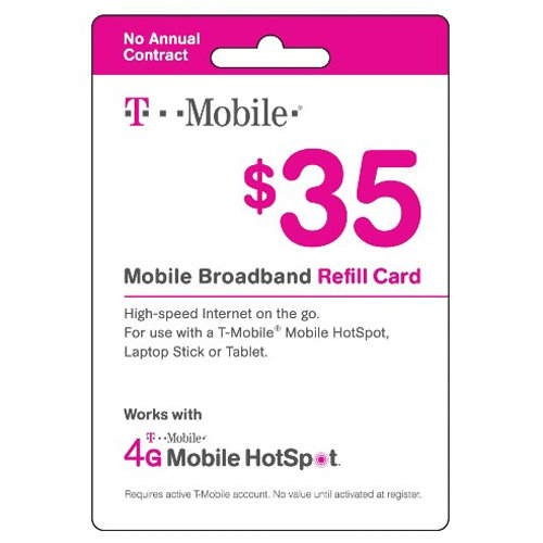 T-Mobile $35 Prepaid Mobile Broadband Pass, 3.5GB, 60-Day