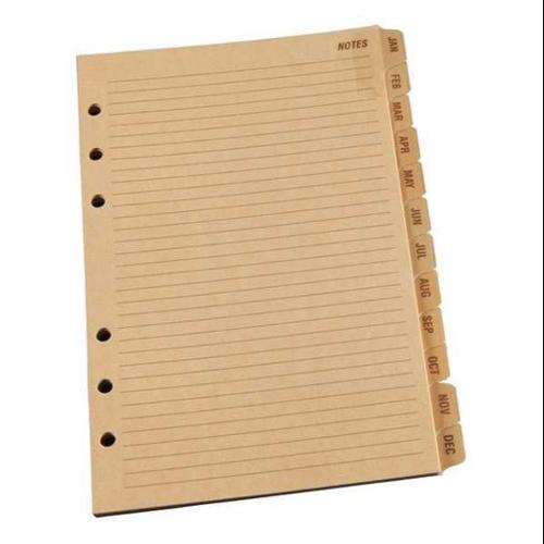"RITE IN THE RAIN 5"" x 7"" Planner Tab Set, Tan, 9260M"