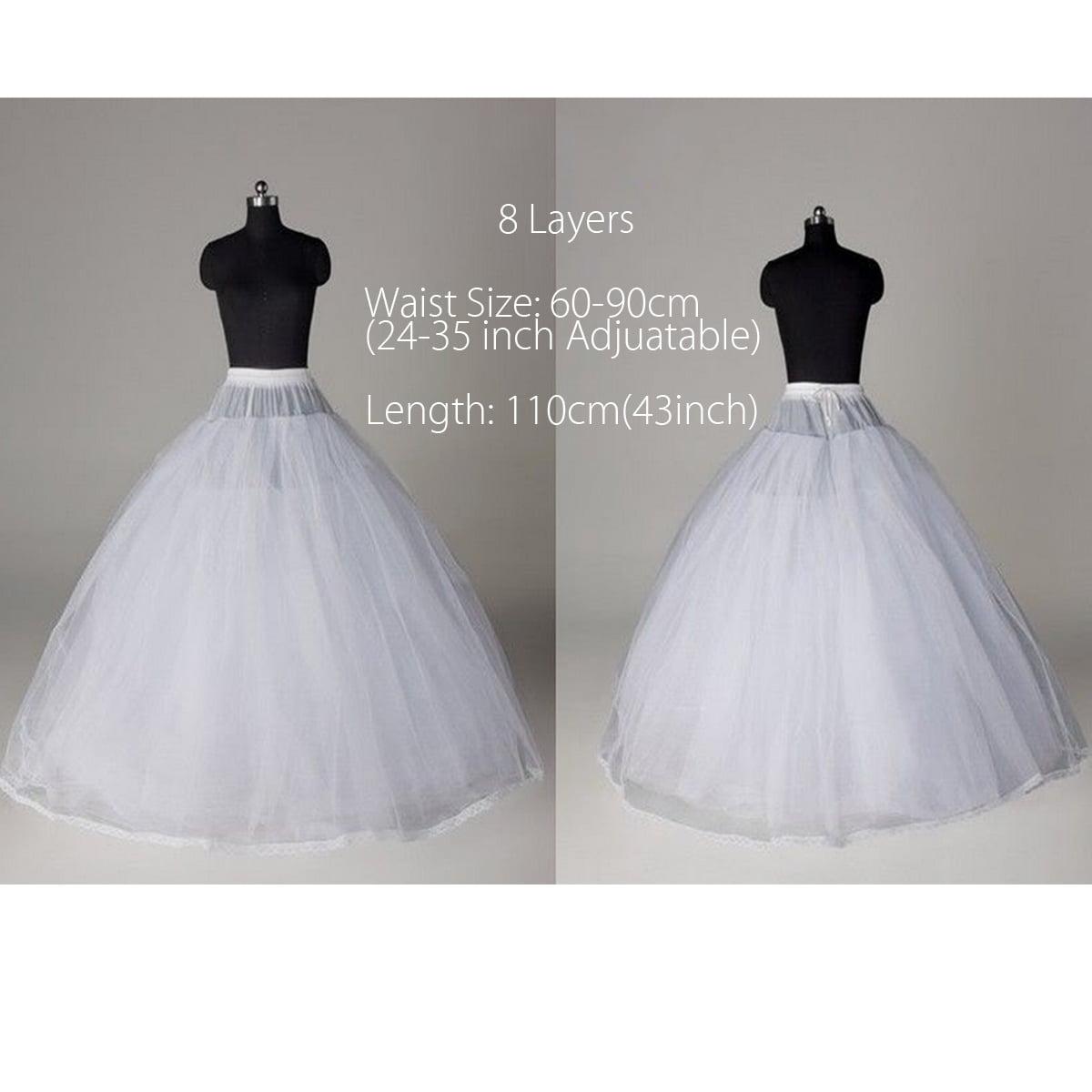 43/'/' 110cm Wedding Bridal Underskirt Petticoat Skirt Prom Dress Crinoline Party
