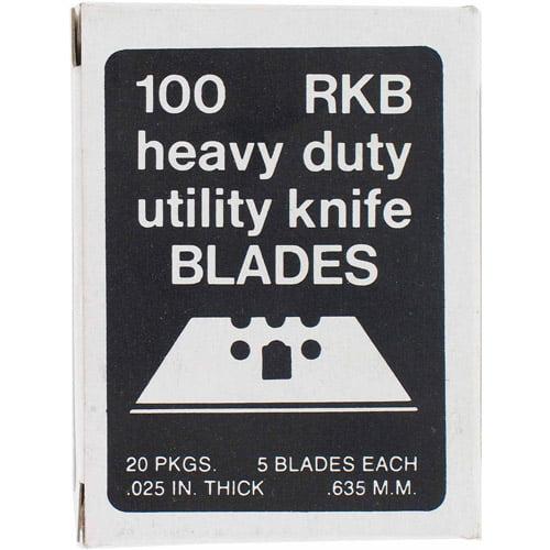 Fits Standard 2 /& 3 Notch Utility K 50 Piece Utility Blade Set In Storage Case