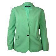 Nine West Women's Solid Notched Collar Faux Pocket Blazer