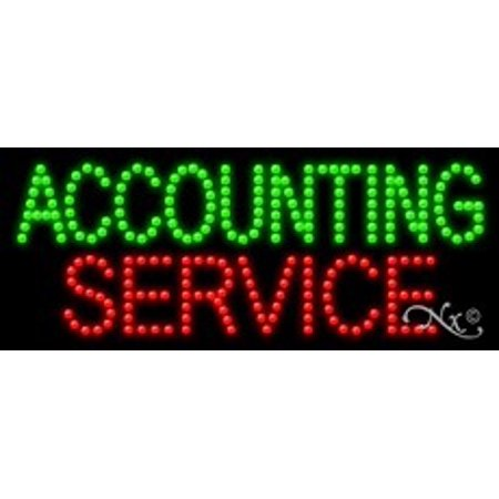 Accounting Service Led Sign  High Impact  Energy Efficient