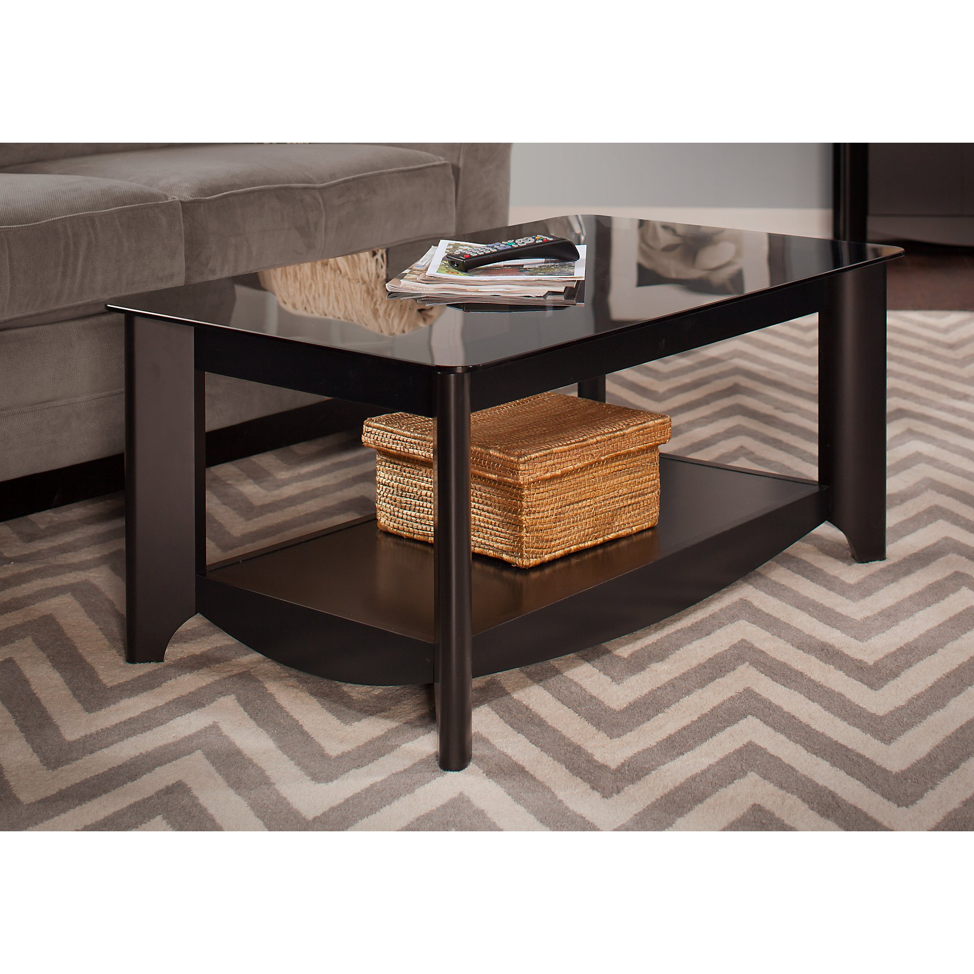 Bush Furniture Aero Collection Coffee Table in Classic Black