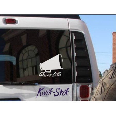 Cheer Life sticker decal cheerleading gymnastics window car truck coach *C333*