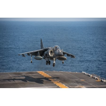 LAMINATED POSTER Landing Military Aviation Jet Carrier Aircraft Poster Print 24 x 36