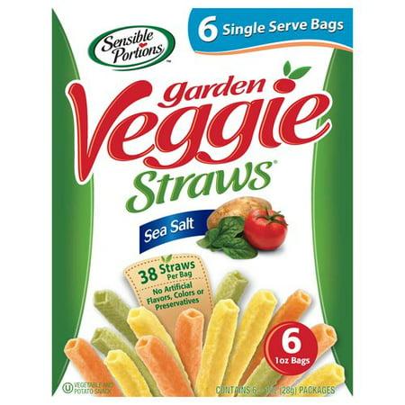 Sensible Portions Sea Salt Garden Veggie Straws 1 Oz 6 Count