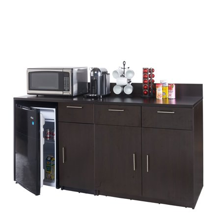 """Coffee Break Lunch Room Furniture FULLY ASSEMBLED """"Ready-To-Use"""" 2pc Group BREAKTIME Model 3453 – Espresso Color...INSTANTLY create a Lunch Break Room!!! (Includes Furniture Cabinets ONLY)"""