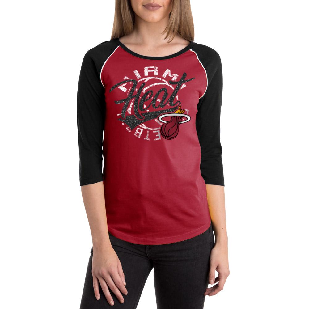 Miami Heat Women's NBA Long Sleeve Baby Jersey Crew Neck Tee