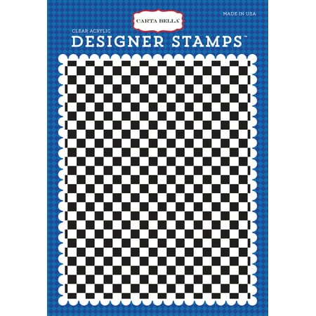 Carta Bella Background Stamp A2 - Cartopia, Checkered Flag (Checkered Paper)