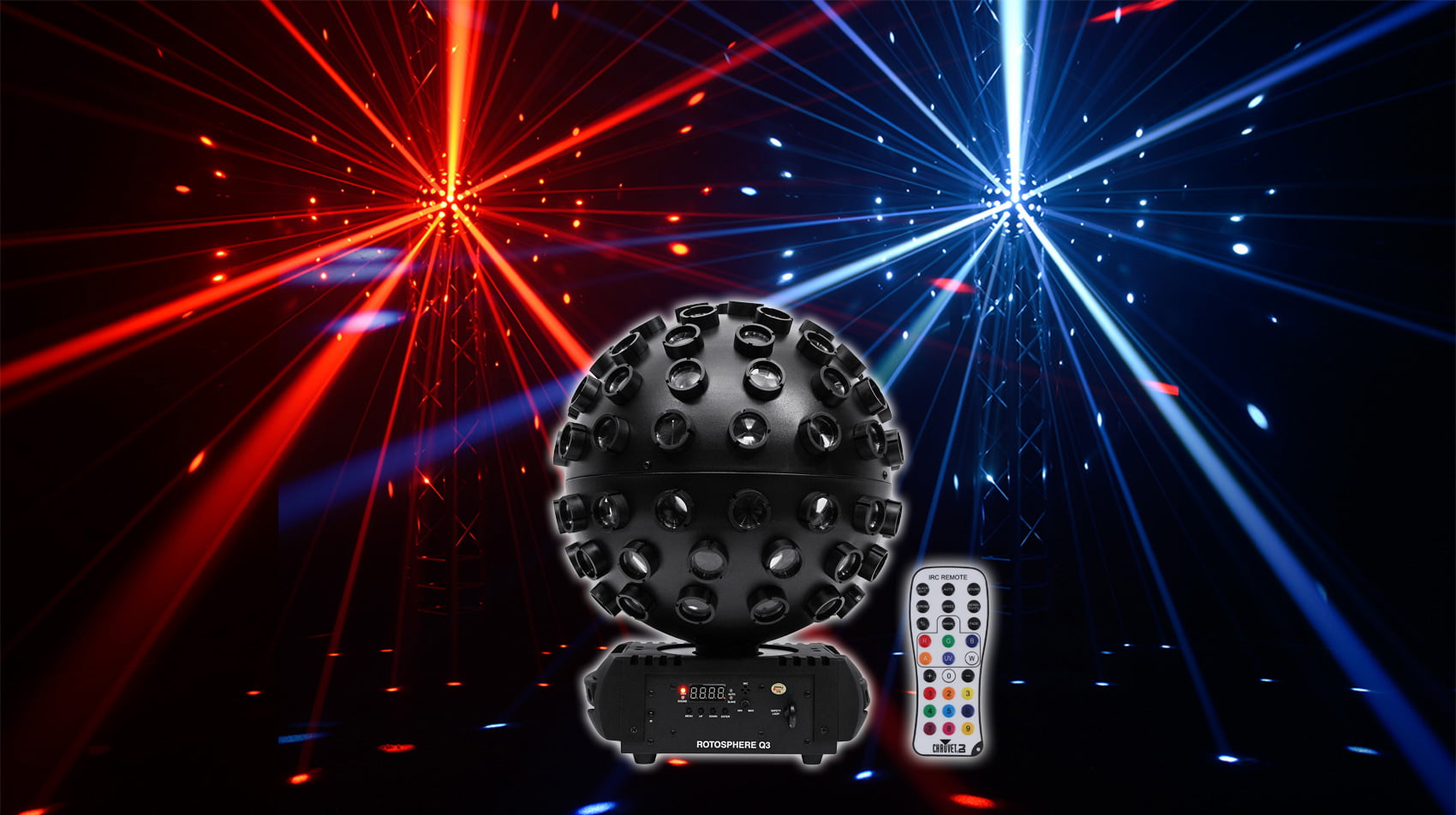 Chauvet DJ Rotosphere Q3 Mirror Ball Dance Floor DMX LED Effect Light + Remote by CHAUVET