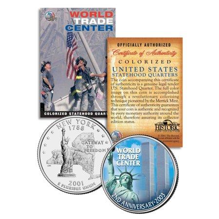 WORLD TRADE CENTER * 2nd Anniversary * 9/11 New York State Quarter U.S. Coin WTC