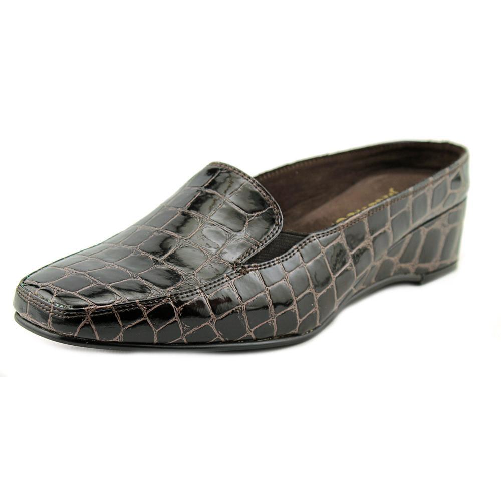 J. Renee Delyn Women Open Toe Synthetic Brown Slides Sandal by J. Renee