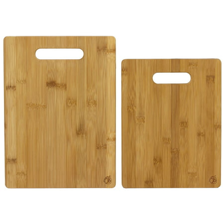 Totally Bamboo 2-Piece Bamboo Serving and Cutting Board Set