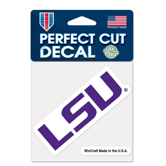 LSU Tigers 4x4 Perfect-Cut Car Auto Decal Sticker