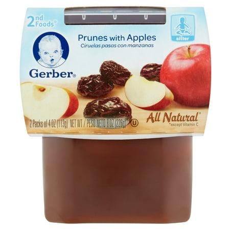 Gerber 2nd Foods Prunes With Apples Sitter 2 X 4oz 8oz