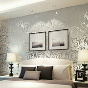 Print Embossed Non-woven 3D Rolls 10m Wallpaper Bedroom Home Wall Decor Wall Sticker HITC