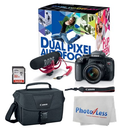 Canon EOS Rebel T7i DSLR Camera + 18-55mm Video Creator Accessory Kit