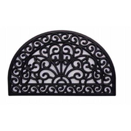 Welcome Gate (Palm Fibre Private Limited PLM 19767 Door Mat, Rubber Iron Gate, Half-Round)