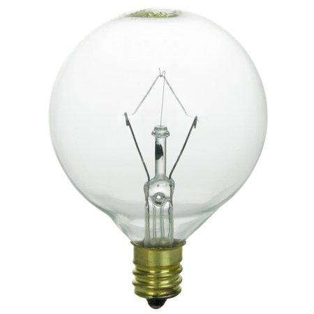 - SUNLITE 25W 120V Globe G16.5 Clear E12 Incandescent Light Bulb