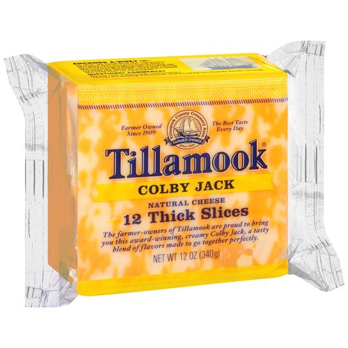 Tillamook Sliced Colby Jack Cheese, 12 oz