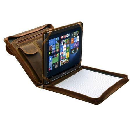 buy online 06f70 abfb6 iPad Portfolio Case, Organizer Padfolio with Large Pouch Pocket, for 9.7  inch iPad